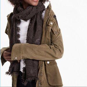 💛 nwt | lucky brand | tassel scarf with trim